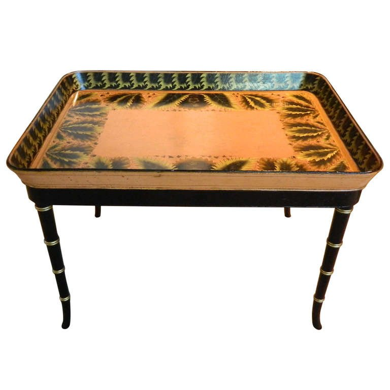 Tray table georgian style mahogany tray table a paul for Wallpaper tray home depot